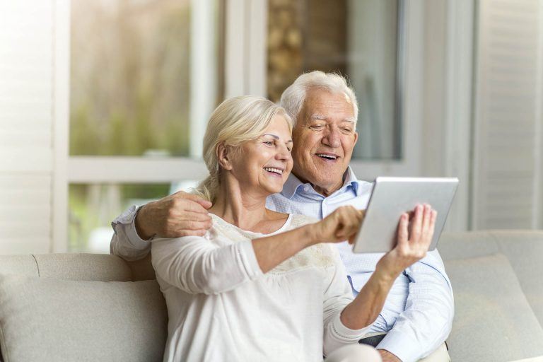 Seniors with tablet